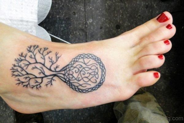 Celtic Tree Tattoos on Foot