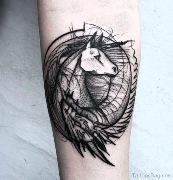 Celtic Unicorn Tattoo On Arm