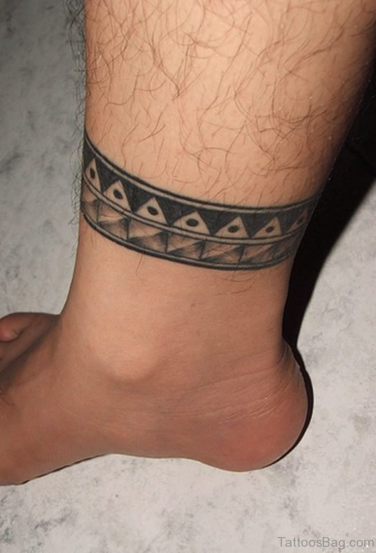 Chain Man Ankle Tattoo