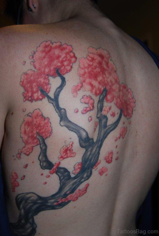 Cherry Blossom Flowers Tattoo On Rib
