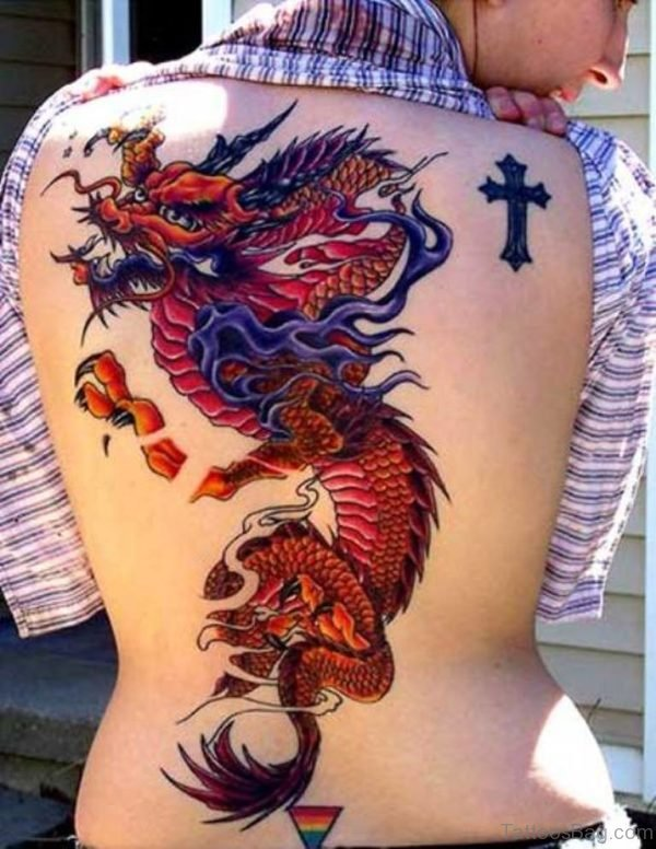 Chinese Dragon Tattoo On Back