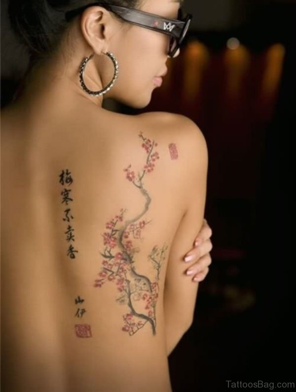 Chinese Word Tattoo On Back