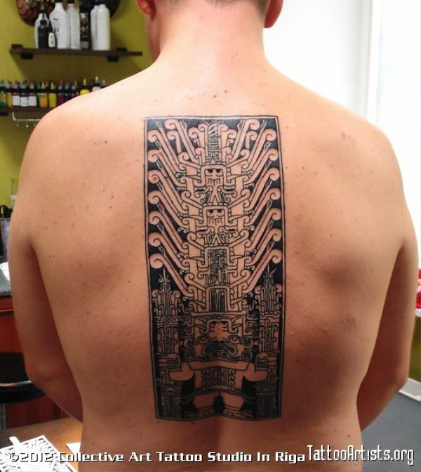 Chip Tattoo On Back
