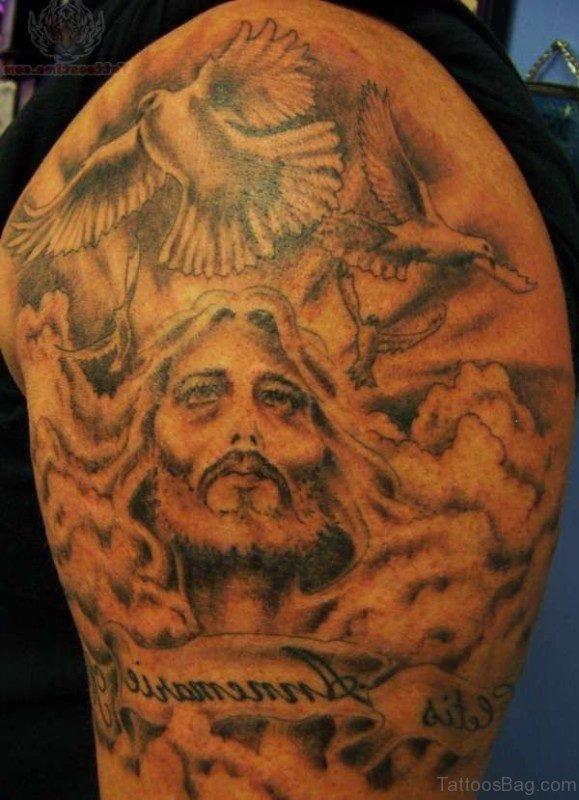 Christian Shoulder Tattoo