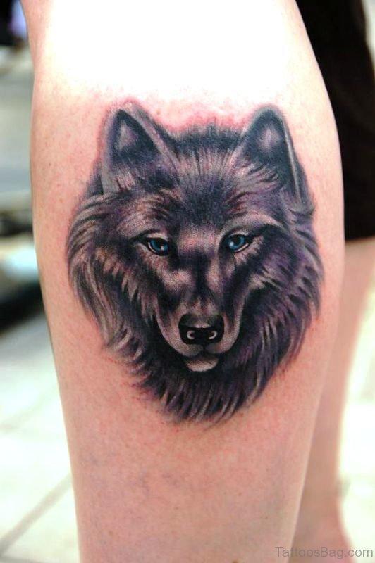 Classic Alpha Wolf Tattoo Design