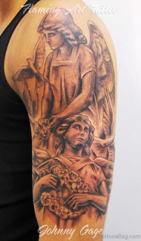 Classic Archangel Tattoo Design