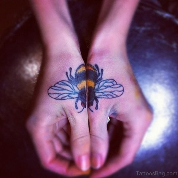 Classic Bee Tattoo