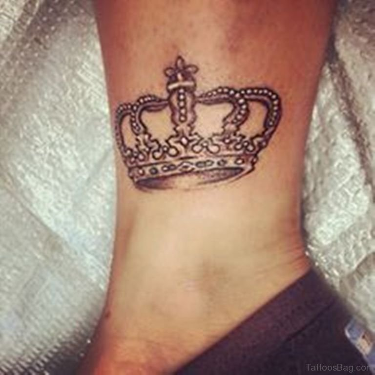 23 best crown tattoos on ankle for Best crown tattoos