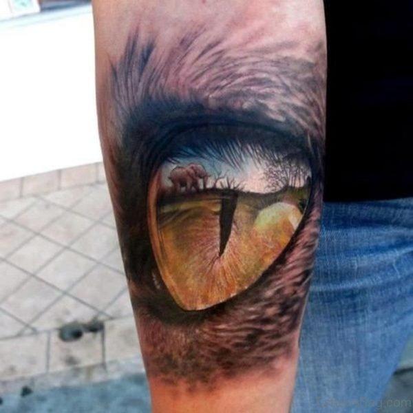 Classic Eye Tattoo On Wrist
