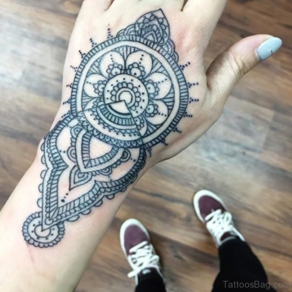 Classic Mandala Tattoo Design On Hand