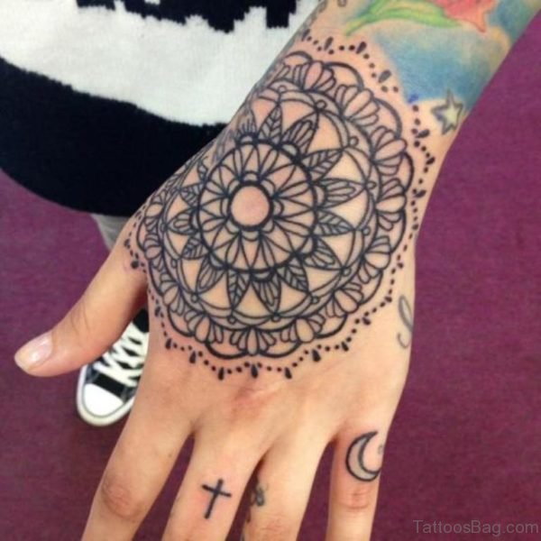 Classic Mandala Tattoo On Hand