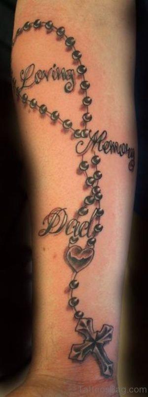 Classic Rosary Tattoo