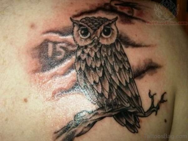 Classy Owl Tattoo