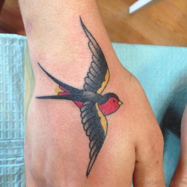 Classy Swallow Tattoo
