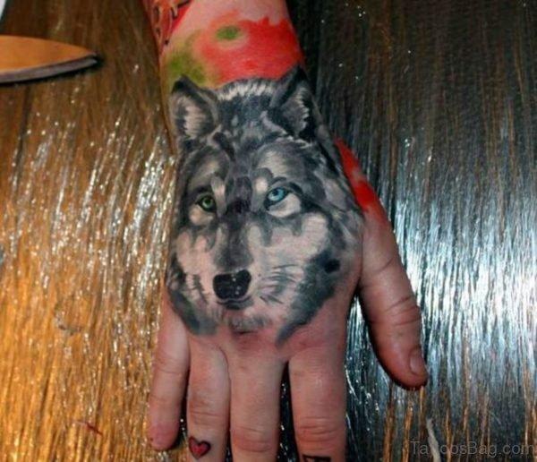 Classy Wolf Tattoo