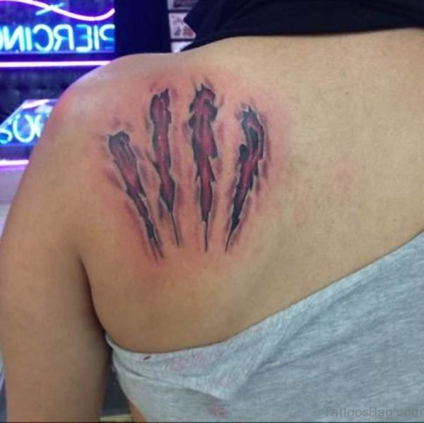 Claw Tattoo On Back