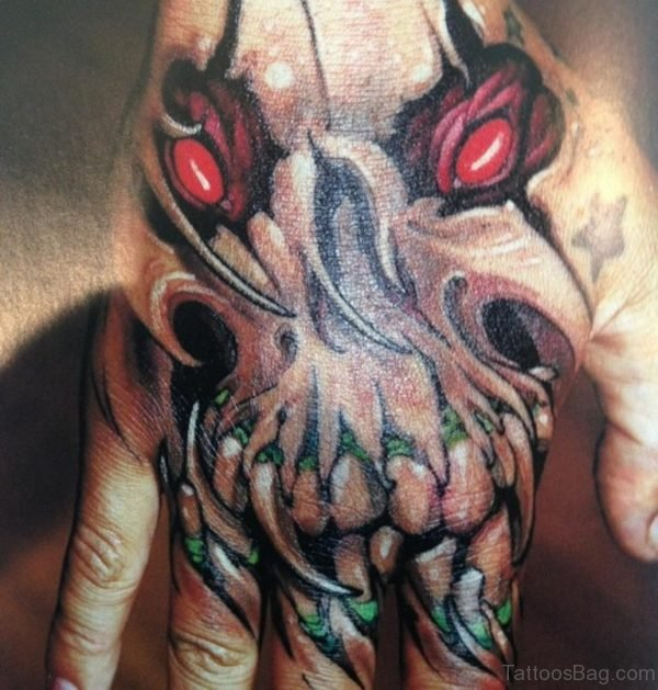 Claw Tattoo On Hand