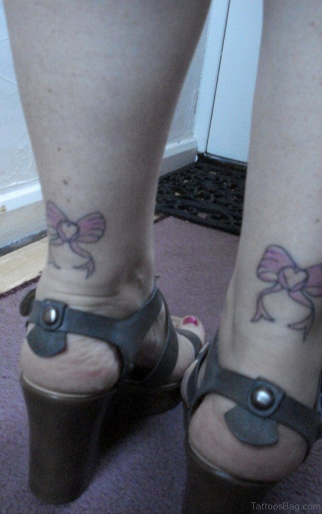 8f306a420 51 Glorious Bow Tattoos On Ankle