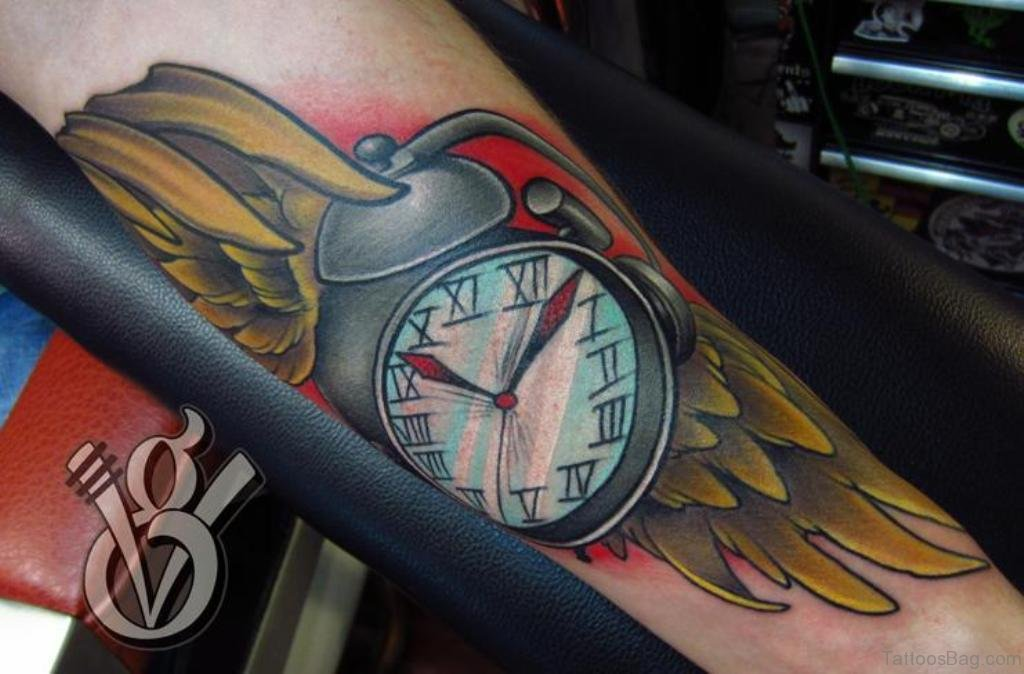 Tattoo Clock Wing Chest: 30 Awesome Wings Tattoos On Arm