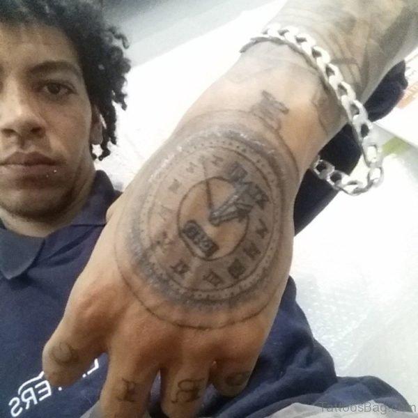 Clock Tattoo design For hand