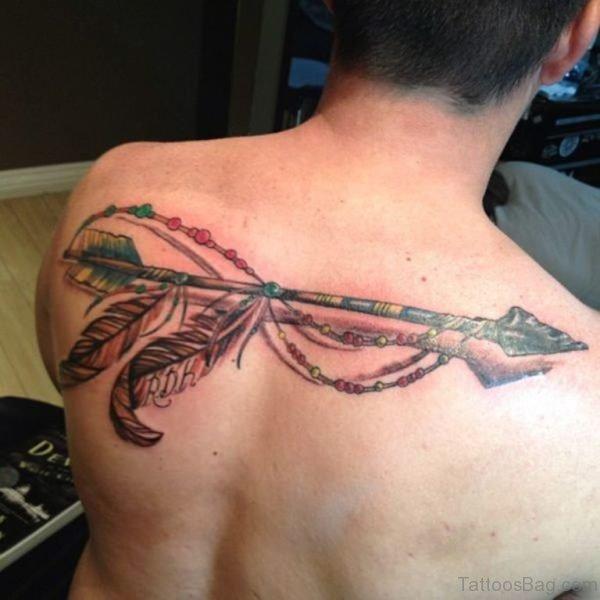 Colored Arrow Tattoo