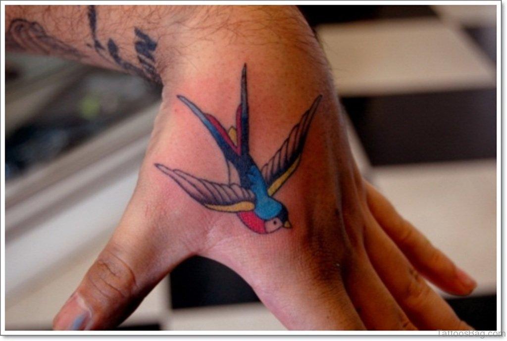 43 fancy birds tattoos on hand. Black Bedroom Furniture Sets. Home Design Ideas
