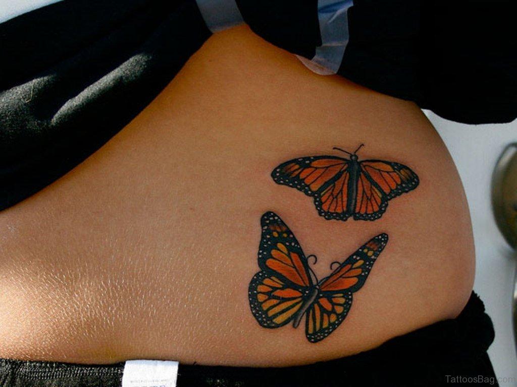 d6d641668 50 Cute Butterfly Tattoos On Waist