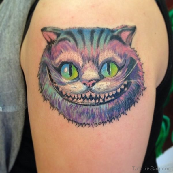 Colored Cat Tattoo 1