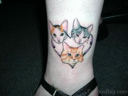 Colored Cat Tattoo