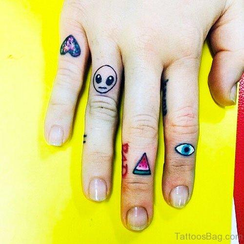 Colored Evil Eye Tattoo