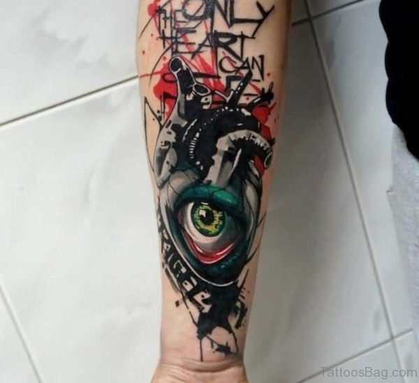 Colored Eye Tattoo