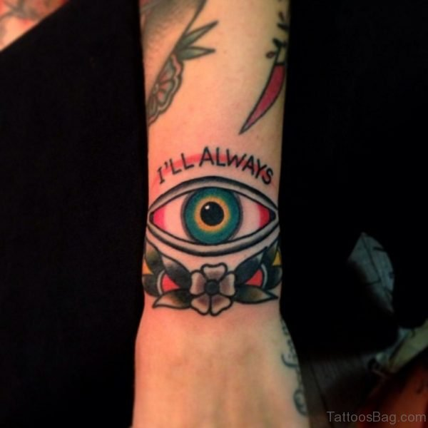Colored Eye Tattoo