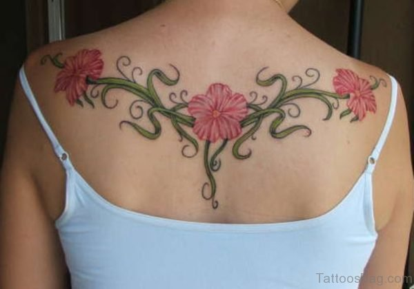 Colored Flower Tattoo