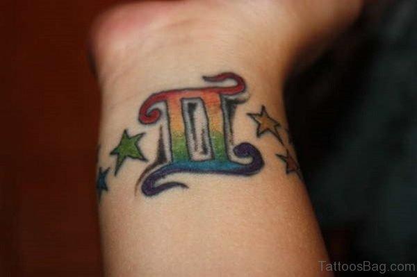 Colored Gemini Tattoo