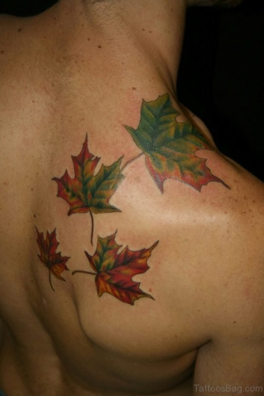 Colored Leaf Tattoo
