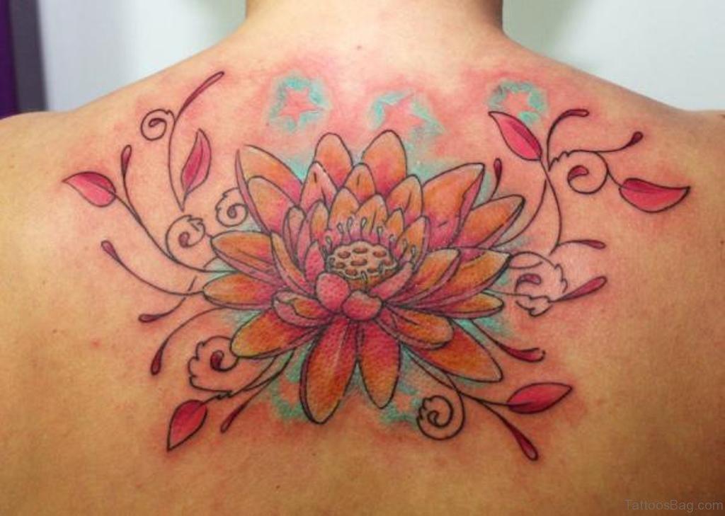 Lotus Flower Tattoo: 60 Graceful Flowers Tattoos On Upper Back
