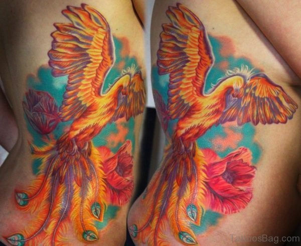 Phoenix Tattoo On Rib