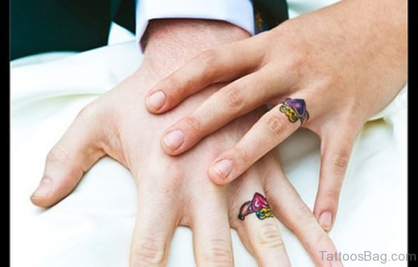 Colored Rings Tattoo