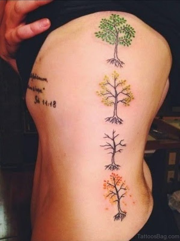 Colored Tree Tattoo