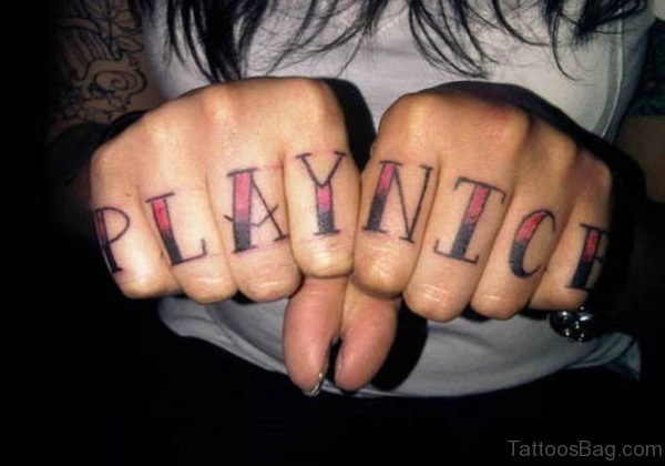 Colorful Word Tattoo