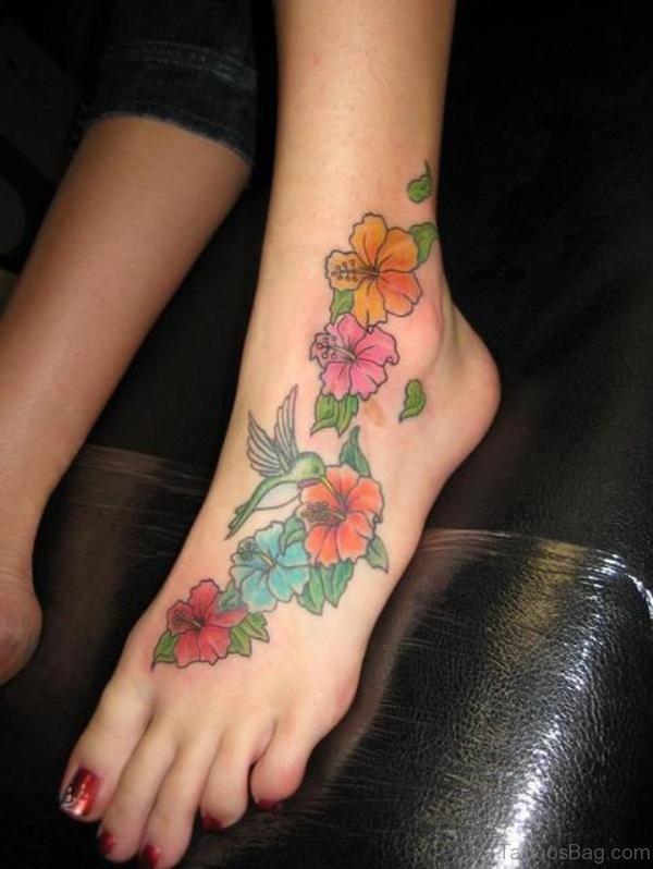 Colorful Bird Tattoo Design