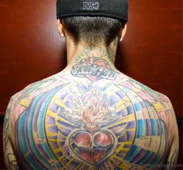 Colorful Tattoo On Back