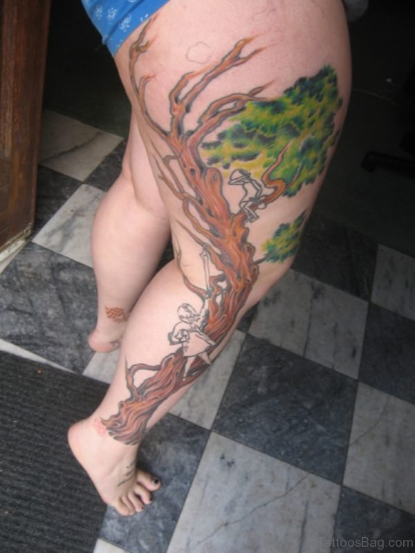 Colorful Tree Tattoo