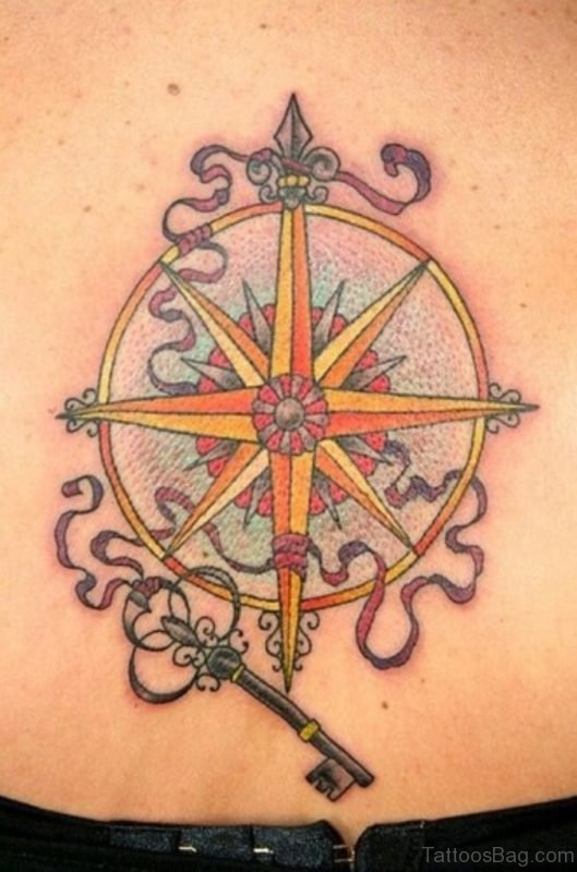 Compass And Key Tattoo