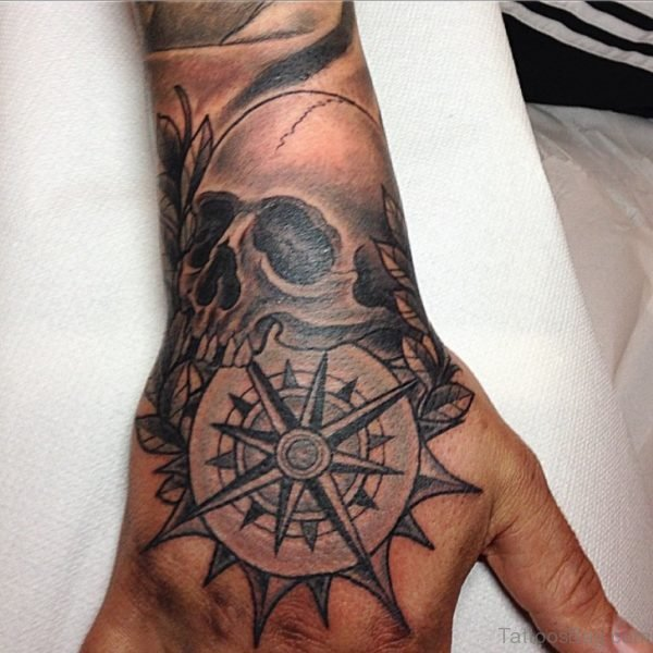 Compass And Skull Tattoo