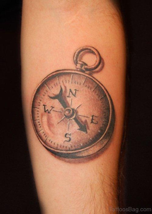 Compass Tattoo Design On Arm