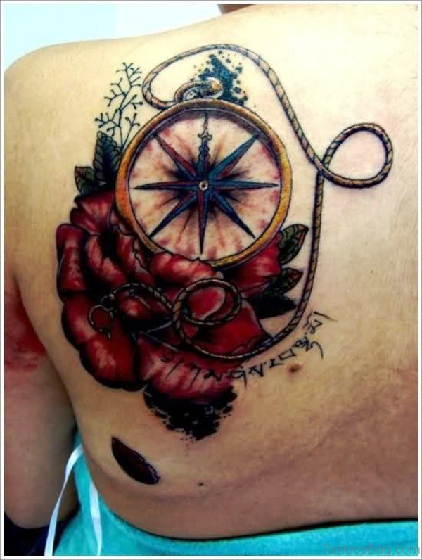 Compass Tattoo On Shoulder