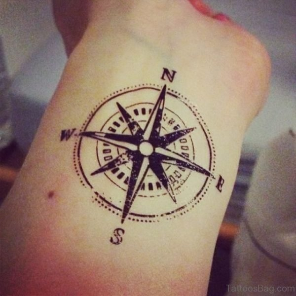 Compass Tattoo On Wrist