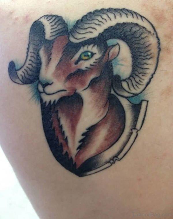 Cool 3D Aries Tattoo