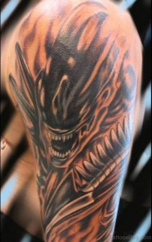 Cool Alien Tattoo
